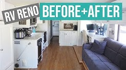 RV RENOVATION: Renovated RV Before and After