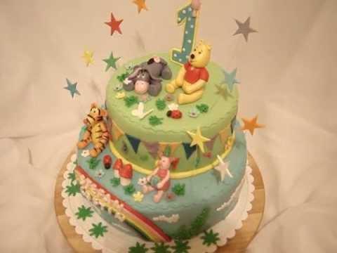 Winnie The Pooh  Fondant Cake  Youtube