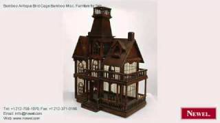 Bamboo Antique Bird Cage Bamboo Misc. Furniture For Sale