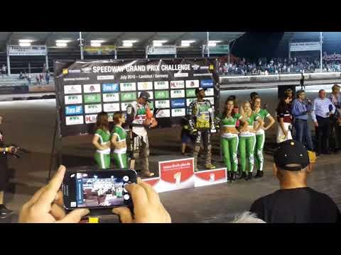 Speedway FIM Grand Prix Challenge Landshut Germany 2018 Final Decision Cook vs Lindback plus Ceremon
