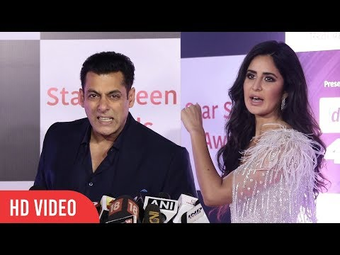 Katrina Kaif and Salman Khan at Star Screen Awards 2018