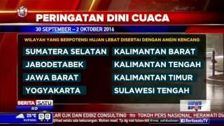 BMKG: Indonesia Dilanda Cuaca Ekstrem Hingga 2 Oktober