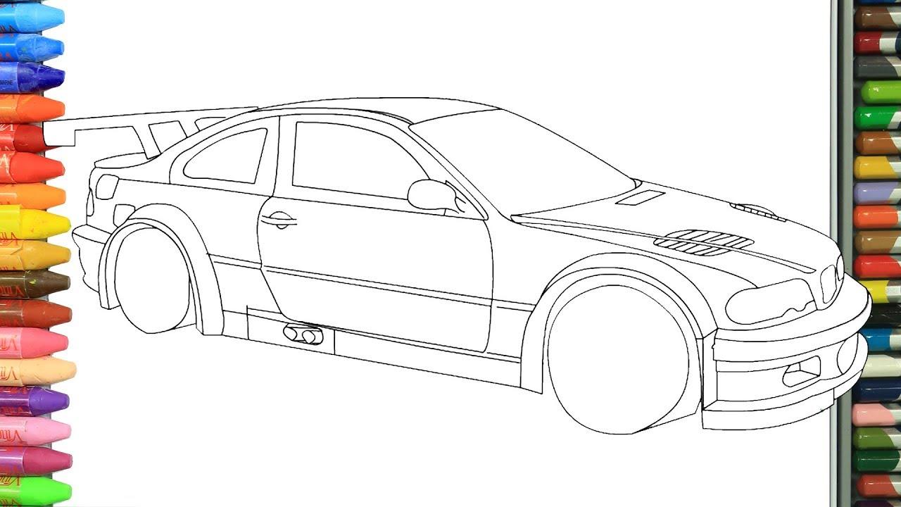 Kirmizi Spor Araba Nasıl Yapılır Nasıl çizilir Boyama Ve Resim