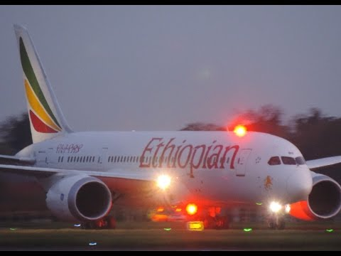 Ethiopian Boeing 787 Landing and TakeOff Dublin Airport