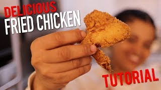 HOW TO MAKE FRIED CHICKEN (EASY + DELICIOUS)