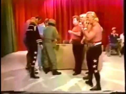 Danny Davis interrupts match for a party, aggravates Lance Russell (6-30-79) Memphis Wrestling