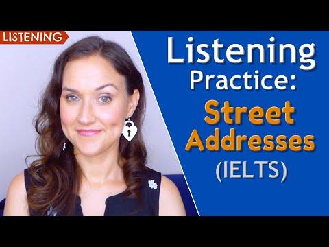 Street Addresses (IELTS) | English Listening Practice