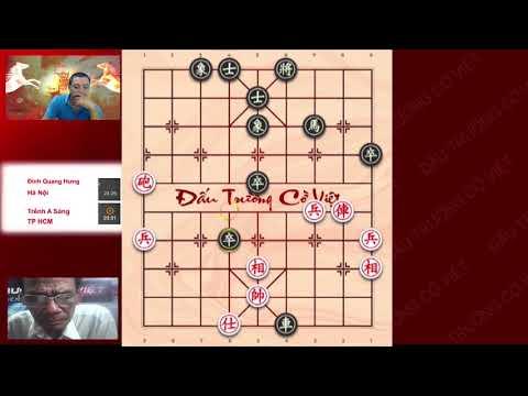 Kiện Tướng Quốc Gia TRỀNH A SÁNG Vào Trận Vòng 5 đối đầu ĐINH QUANG HƯNG HN Dautruongcoviet2019