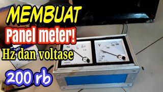 Cara mudah membuat panel meter listrik HZ dan VOLTASE