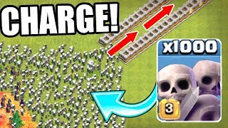 1000 SKELETONS SWARM THE NEVER ENDING SPIRAL!! WHAT HAPPENS NEXT!? - Clash Of Clans