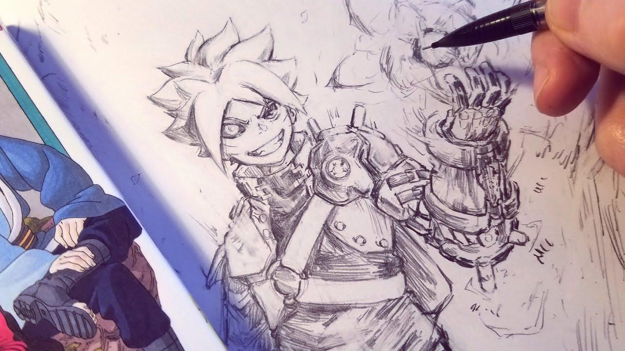 Drawing Boruto New Design Steampunk Redesign Anime Manga Sketch