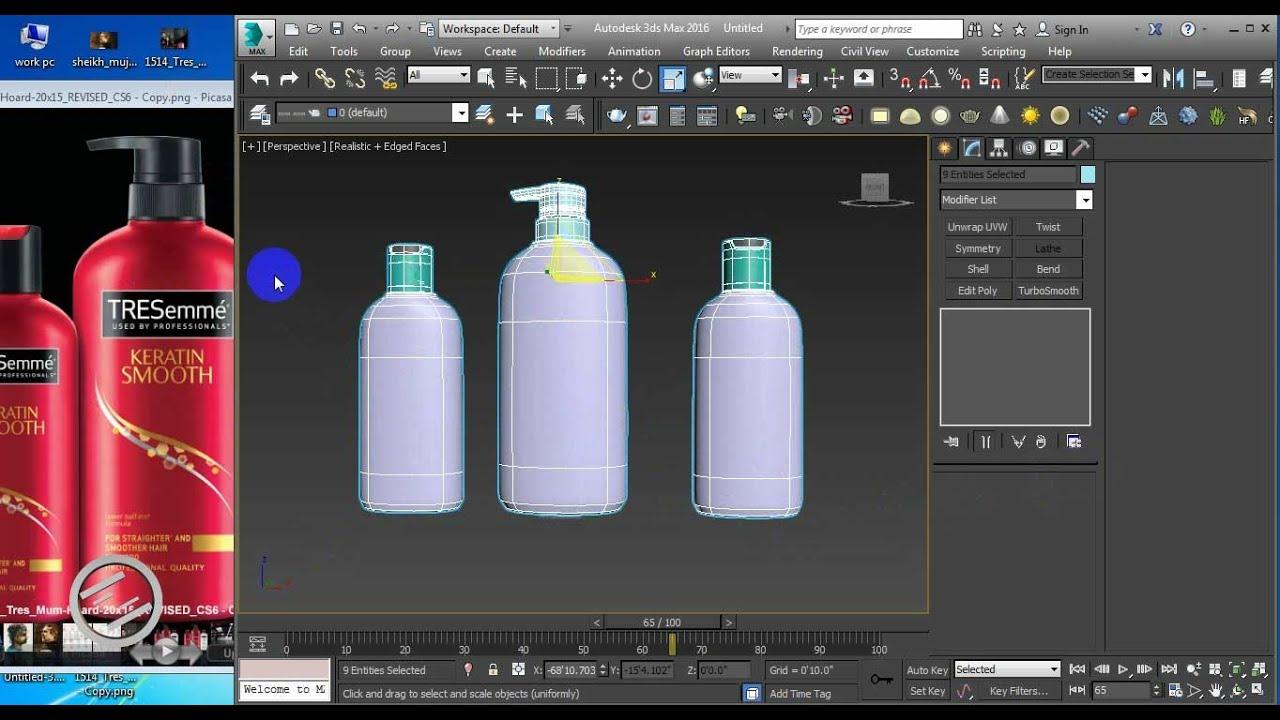 3d Product Bottle Modeling Rendering Tutorial In 3d