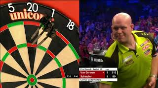 Martin Schindler stuns Michael van Gerwen at the 2019 German Darts Masters