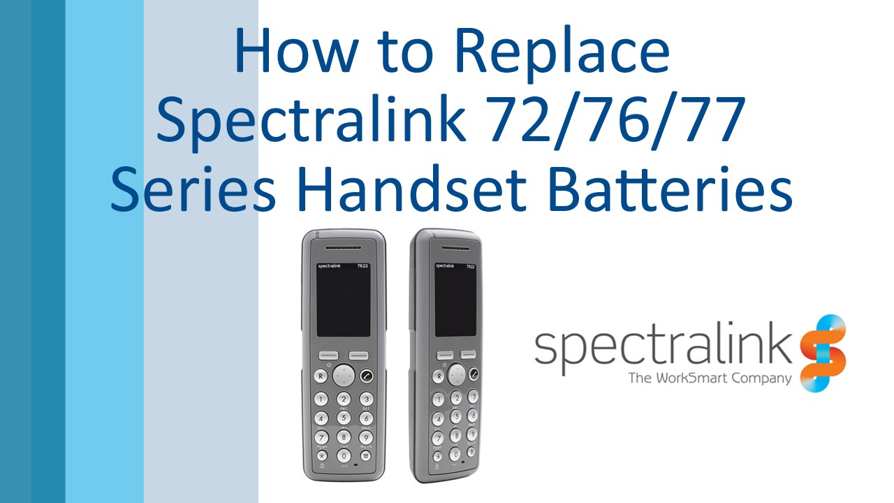 How to Replace Spectralink 72/76/77 Series Batteries