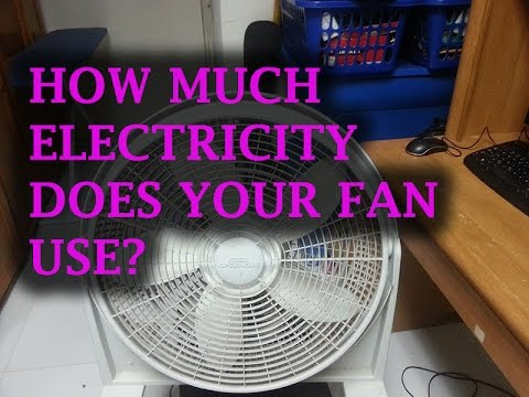 How Much Electricity Does Your Fan Use