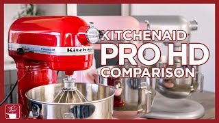 KitchenAid Mixer Comparison  Professional HD Mixer, Artisan Mixer, and Pro 600 Bowl-Lift Mixer