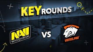 Key rounds: NAVI vs Virtus pro on Inferno @ DreamHack Masters Malmö 2017 [RU/EN]