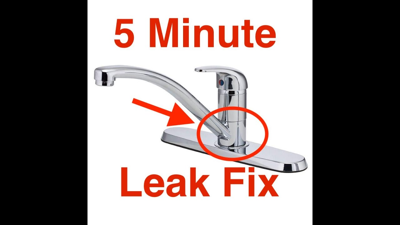 Kitchen Faucet Leaks At The Base Easy 5 Min Fix You