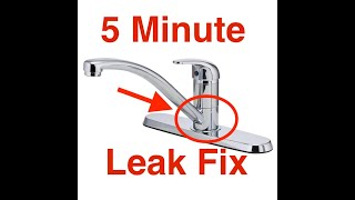 kitchen faucet leaks at the base easy
