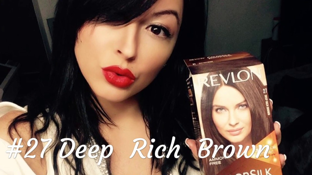 Revlon 27 Deep Rich Brown Review Beforeafter Youtube
