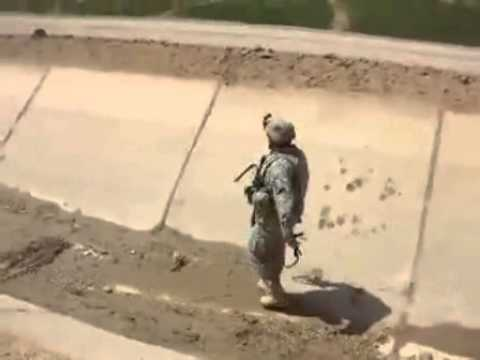 US Soldier Gets Trapped in a Canal