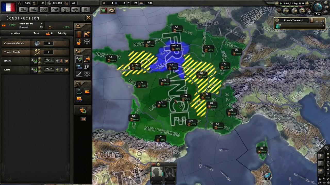 HOI 4 Multiplayer Guide - 10w spam France Part 1