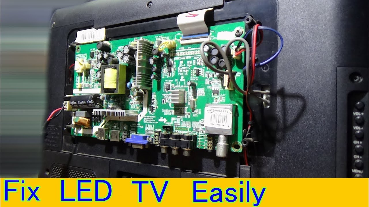 How To Repair Power Problem Of Videocon Led Television Part 1