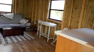 lofted barn cabin interior 1st day