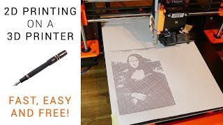 2D printing on a 3D printer - Free and easy guide