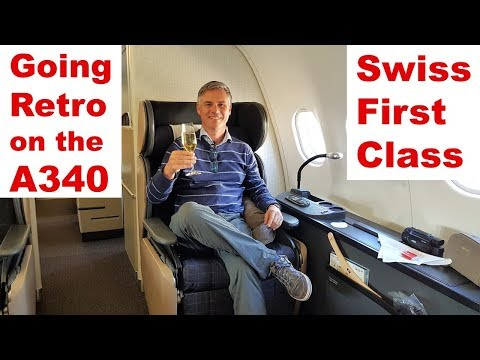 Going Retro on the A340 - SWISS First Class