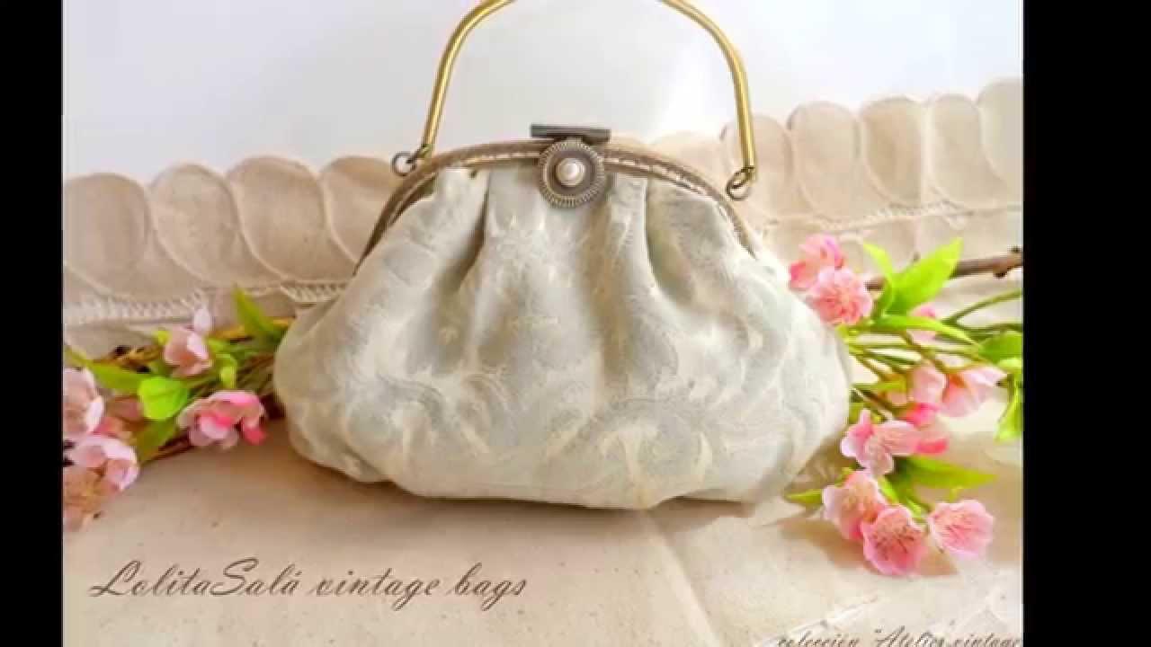 Bolsos vintage para novia by lolitasal youtube - Como hacer bolsos con salvamanteles ...