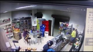 Roubo à padaria em Divinópolis - Divulgação Polícia Militar