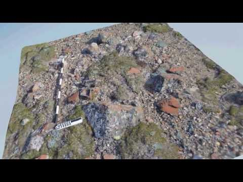 3D Model of a Stone Cache from a Historic Inuit Archaeological Site on Banks Island, NWT
