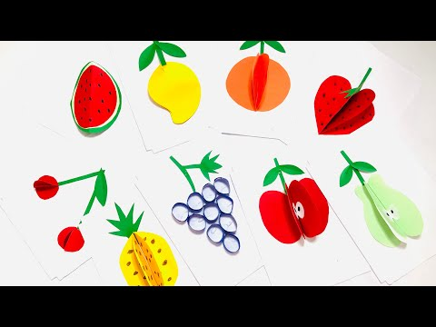 How to make 3D fruits out of paper