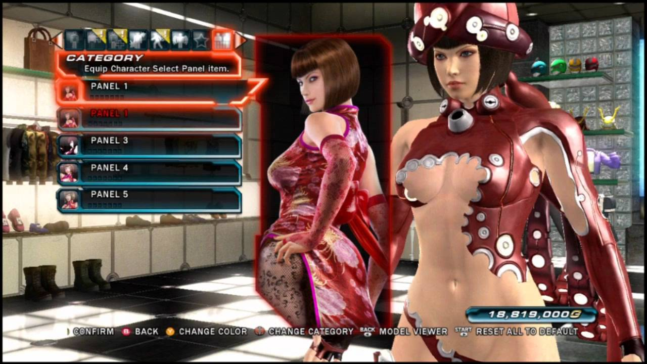 Tekken tag tournament 2 customization options for default characters youtube