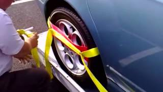 Vehicle Trailer Recovery strap demonstration Video