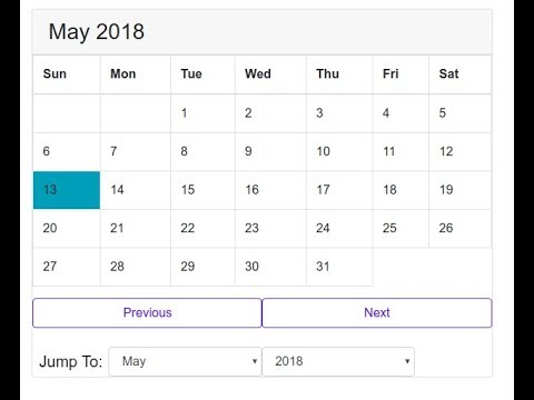 Building A Calendar With HTML And JavaScript
