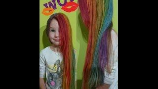 Красим волосы как у Радуги (Rainbow Dash) из My little pony