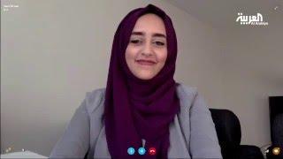 طالبة سعودية تطلب من السويديين وصفها بكلمة