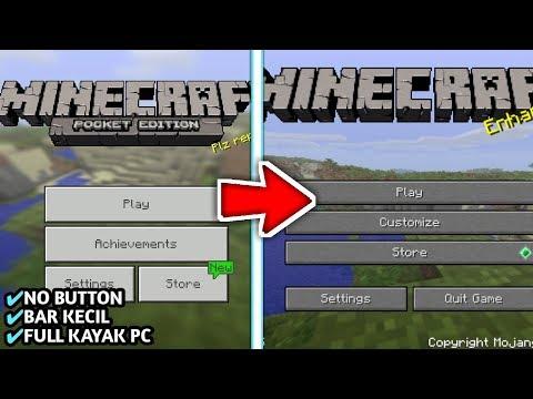 Cara Merubah Tampilan MCPE Menjadi MCPC   Minecraft PE