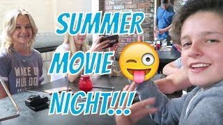 MOVIE NIGHT with the LeRoys! Drive in movie! | Brock and Boston