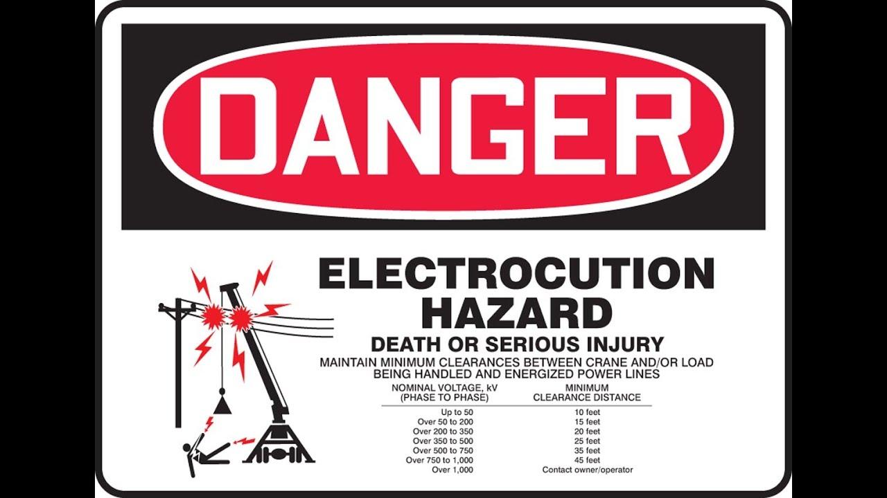Watch on High Voltage Distance Chart