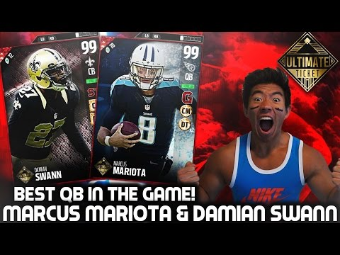 WE GET ULTIMATE TICKETS MARCUS MARIOTA & DAMIAN SWANN! BEST QB IN THE GAME! MADDEN 17 ULTIMATE TEAM