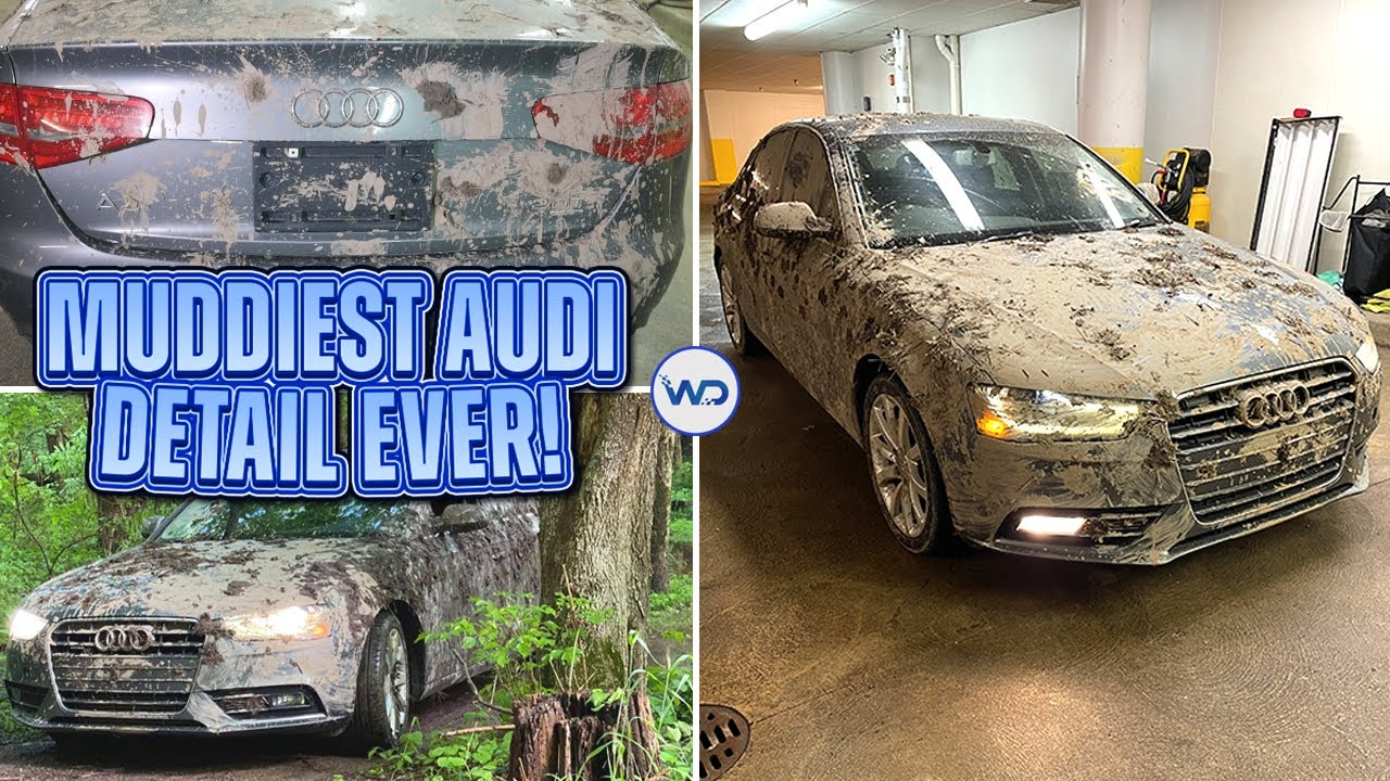 Deep Cleaning The Muddiest Audi A4 EVER! | Insane Satisfying DISASTER Detail Transformation!