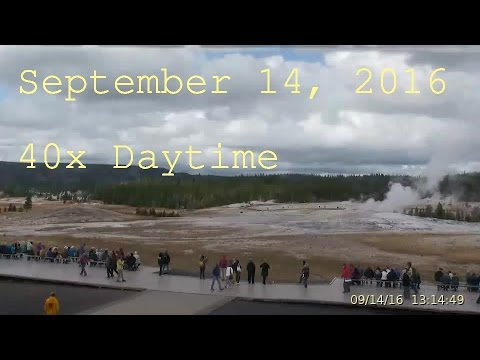 September 14, 2016 Upper Geyser Basin Daytime Streaming Camera Captures