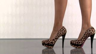 Paris Hilton Tyra in Leopard Pony/Black Patent