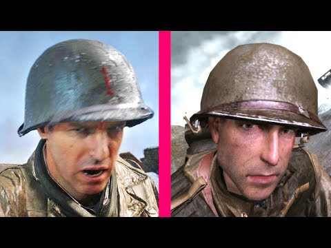 Call of Duty WW2 vs Call of Duty 2 : D-Day Landing Operation Overlord