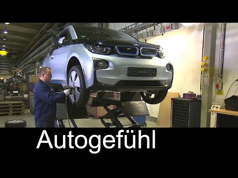 BMW i3 production assembly battery, recycling and interior materials Prdouktion - Autogefühl