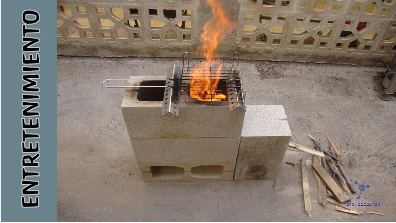 Cocina r stica por 2 euros con 4 bloques youtube - Chimeneas de barro ...