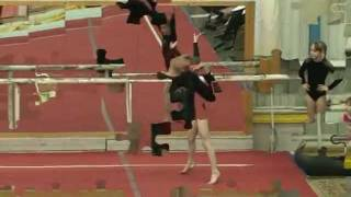 Competitions on sports gymnastics 26,01,2012  Yesenia Frolova .mpg